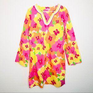Lilly Pulitzer Elina Tunic Hotty Pink Dress M
